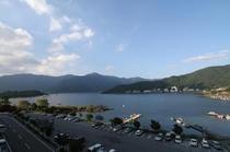 河口湖の眺望