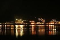 夜の河口湖