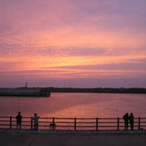 越前海岸の夕陽