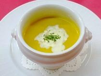 夕食例:スープ(カボチャのクリームスープ)