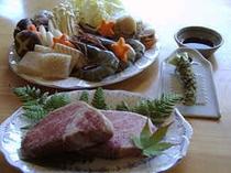 鍋料理と地元和牛