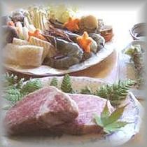 鍋料理とフィレ肉:正方形