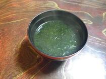 *岩海苔の味噌汁