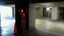 「ぶらり!一人旅」 地下駐車場の別角度からの撮影
