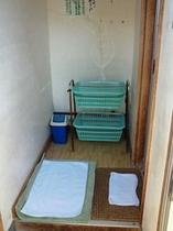 家族風呂1の脱衣所