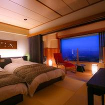 【本館6階】新タイプ:和モダンツイン<琉球畳と板間>(37.5平米)