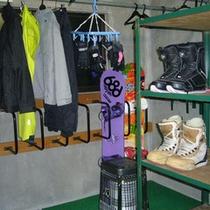 *【乾燥室】濡れたウェアーを乾かせます。