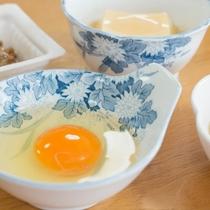 *[朝食一例]黄身が濃くて美味しい!地元の新鮮卵