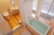 温泉内風呂付き客室。