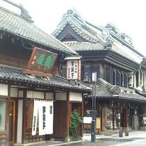 *蔵造りの街並み/川越の土蔵造りの店舗は「蔵造り」として有名。