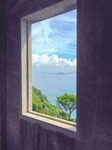 神島監的哨から見た伊良湖。