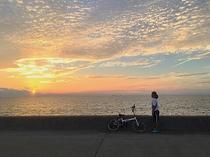 サイクリング途中の夕焼け。