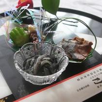 *ご夕食イメージ:自家製珍味三種盛り