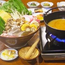 *【夕食一例/冬】冷えた体を温める「ごますりちゃんこ鍋」は冬のお勧め。
