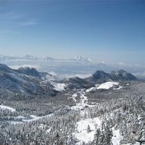 *【冬】横手山頂付近より笠岳・志賀山を望む景色!