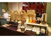 ■朝食バイキング ドリンクバー