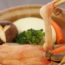 ズワイガニの陶板焼き こちらも3種からチョイスできます焼くことで更に甘味が増します