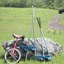 竹馬・一輪車もご自由に使ってください!