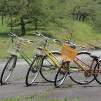 サイクリングも自由にお使いください。小学生用もあります。