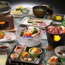 夏の旬が満載の『夏の会席』料理一例