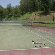 テニスコートは2面あります。ご自由にどうぞ!ラケットボールは無料貸出がありますよ。
