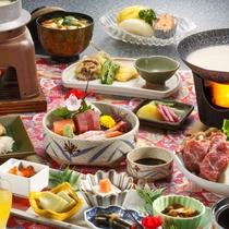 2016年 冬の旬が満載 阿賀会席料理一例
