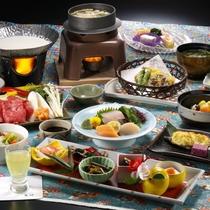 冬の阿賀会席料理9品一例
