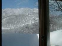 2月食堂の窓より