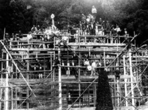 昭和9年 建設中の斉月楼