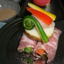 豚の野菜巻き