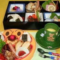 お子様ランチ Aランチ:松花堂お弁当風  Bランチ:キャラクタープレートランチ