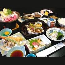 旬の味覚を彩る花禅会席膳(一例)