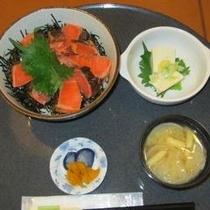 あぶりサーモン丼定食