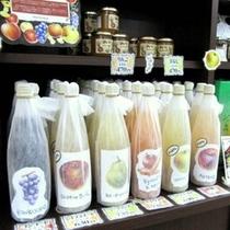 地元農家さん直納♪濃くて美味しい人気の「NO-JIN青果ジュース」。ラウンジでのお試しもお勧め◎