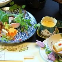 山から川から、畑から。信州らしい素朴でやさしい食材でおもてなし(一例)