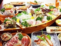 料理〜舟盛りアップ・ヨコ(600×450)