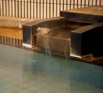 大浴場の湯口