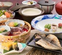 【和朝食】全体のご朝食の雰囲気です。