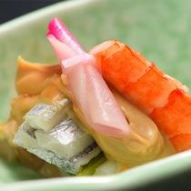 太刀魚とうるいのごま酢和え(舞の膳 2017年6月~9月)