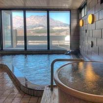 露天風呂やつぼ湯もあるんだ。どのお風呂から入ろうかな?