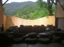 夏の展望温泉露天風呂