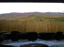 紅葉の展望温泉露天風呂
