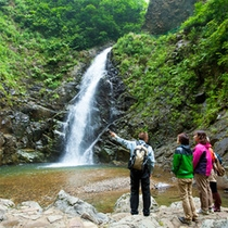 *夏の白神山地/暗門の滝は人気コース。爽やかな水の音を聴いて、疲れた心をリフレッシュ!