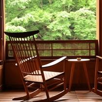 温泉露天付客室(和室10条タイプ)『水麗』デッキ