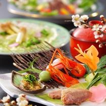 旬と季節を大切にした和食の会席膳
