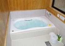 ▲超軟水使用の気泡風呂(貸切風呂)