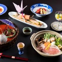 上州麦豚鍋会席 - 猿ヶ京の四季を意識して、まごころ込めて作りました。
