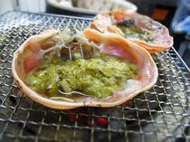 カニ味噌の甲羅焼(炭火焼)
