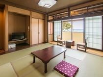 日本海と越前松島を望む昭和レトロ風客室 雄島