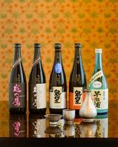 福井の厳選地酒 (越の鷹 鬼作左 早瀬浦) 魚料理やカニ料理によく合います!